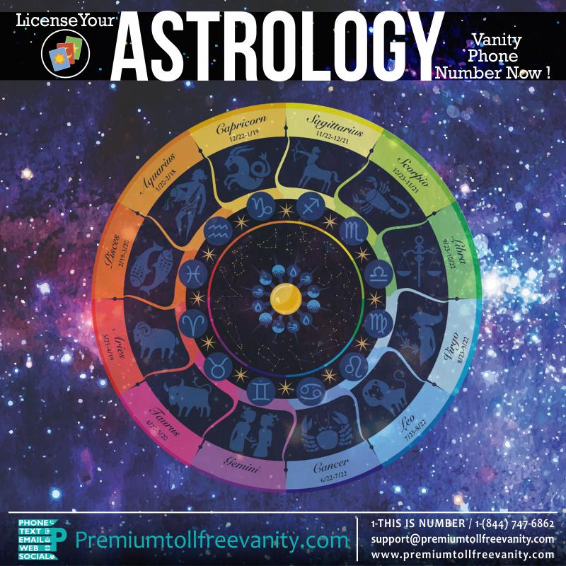 Buy License astrology tarot reading numerology palmistry etc toll free vanity phone numbers